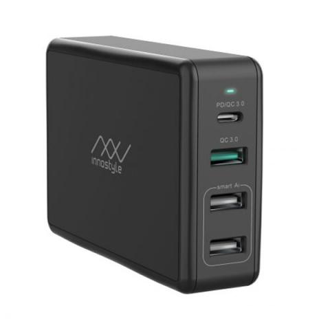 Adapter Innostyle Gomax Pro 80W (USB-C PD 65W + USB QC3.0 18W + 2 USB-A Smart AI) (IC80-4PD)