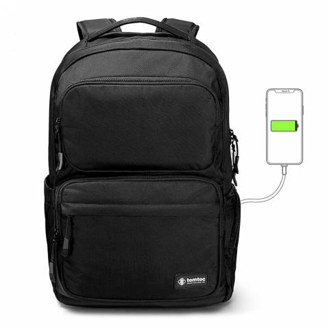Balo Tomtoc (USA) Travel Backpack Ultrabook 15.6″/24L - Black (A77)