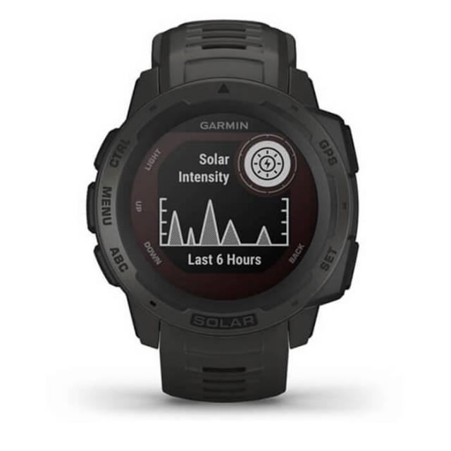 Đồng Hồ Garmin Instinct Solar, GPS Watch, Graphite, SEA