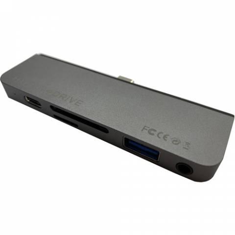 Cổng Chuyển Chuyên Dụng HyperDrive 6 In 1 HDMI 4K/6Hz Usb- C Hub For Ipad Pro 2018/2020 & Macbook/Laptop/Smartphone- HD319B