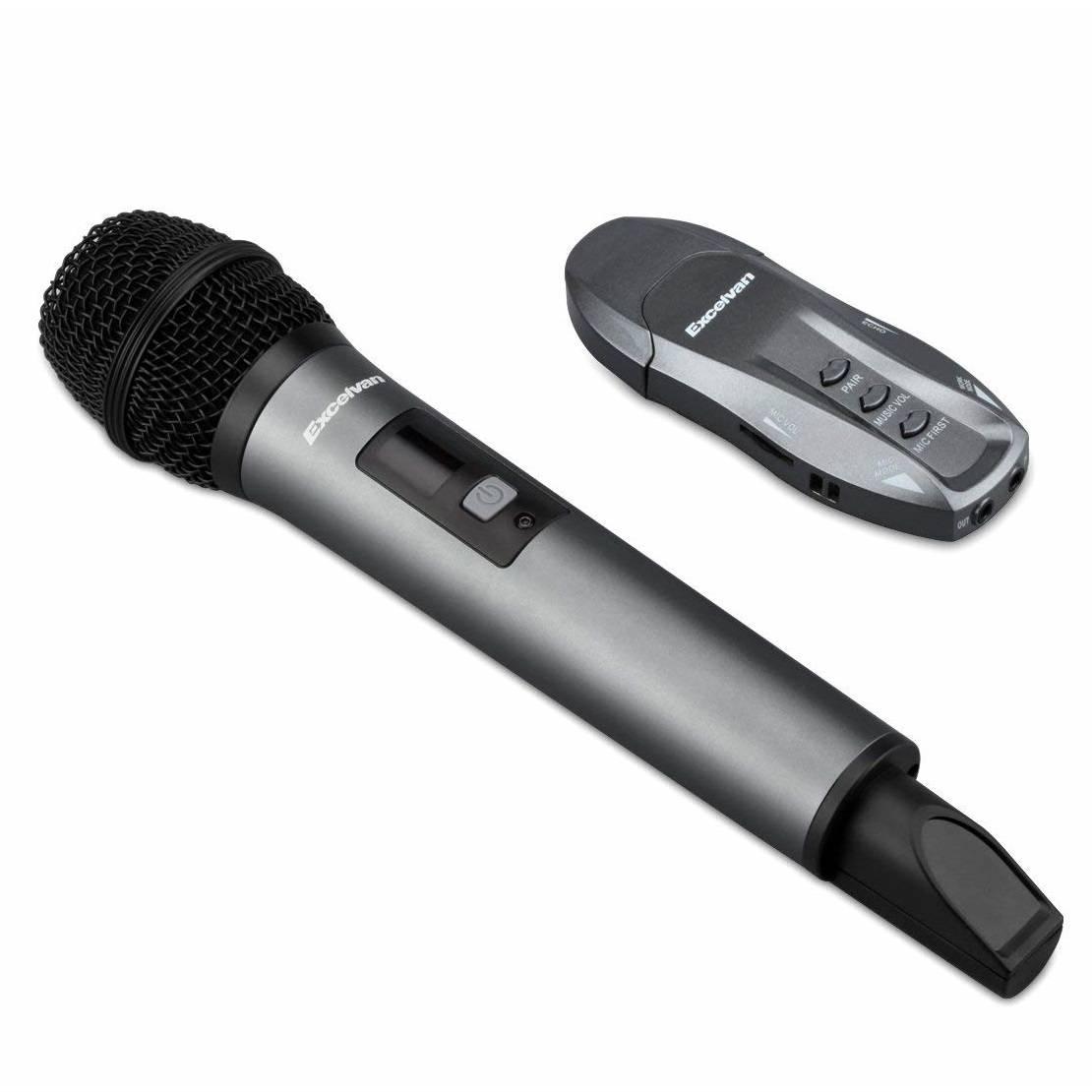 Micro Karaoke không dây Excelvan K18V, 01 mic, VHF