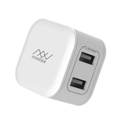Adapter Innostyle Minigo 2 USB-A 12W Smart Charging AI (IC12SA)