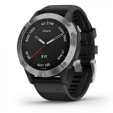 Đồng Hồ Garmin Fenix 6 - Silver with Black Band