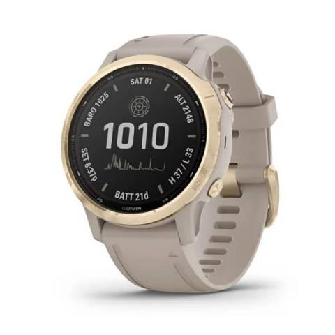 Đồng Hồ Garmin Fenix 6S Pro Solar - Lt.Gold w/Shale Gray Band GPS Watch, SEA_010-02409-24
