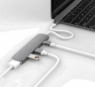 Cổng chuyển HyperDrive HDMI 4K  USB-C Hub (GN22B) for MacBook, PC & Devices