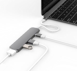 Cổng chuyển HyperDrive HDMI 4K  USB-C Hub  for MacBook, PC & Devices