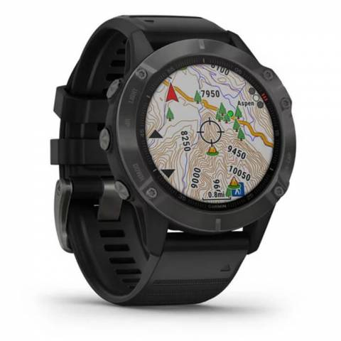 Đông Hồ Garmin Fenix 6 Sapphire 47mm - Carbon Gray DLC with Black Band