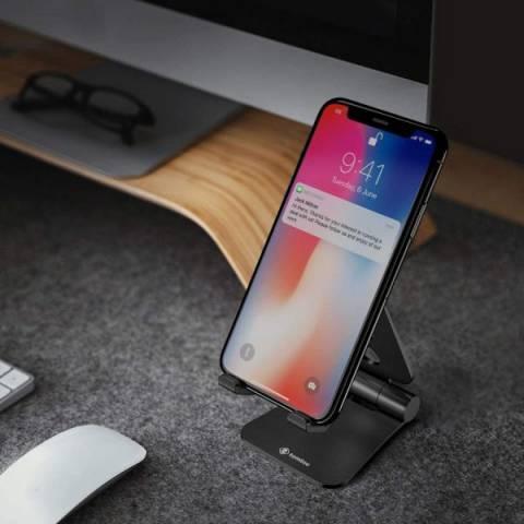 Gía Đỡ TomToc (USA) Alumium Đa Góc Dành Cho Nintendo Switch/Ipad/Mini/Iphone/Smartphone Silver Black (B4-001D)