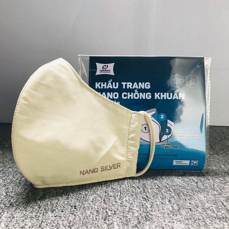 Khẩu Trang Y Tế Nano Kháng Khuẩn Virus Hanvico - Hàng chính hãng