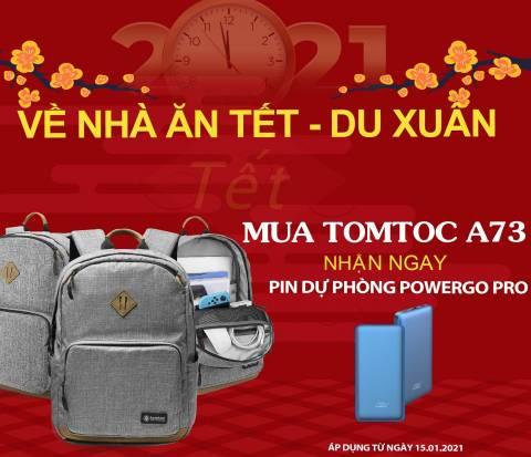 Balo Tomtoc (USA) Lightweight Multi-Purpose Laptop 15'' - Gray (A73-E01G01)