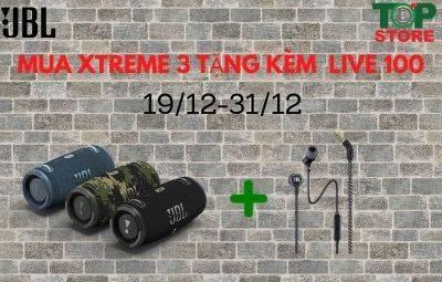 JBL Xtreme 3 tặng kèm tai nghe Live 100 chính hãng