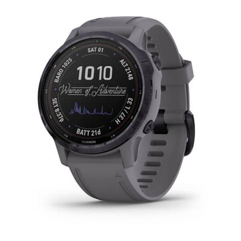 Đồng Hồ Garmin Fenix 6S Pro Solar, WOA, Purple w/Shale Band, GPS Watch, SEA
