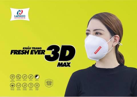 Khẩu trang Fresh Ever 3D Max Kháng Khuẩn