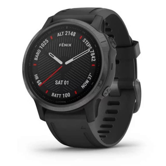 Đồng Hồ Garmin Fenix 6S Sapphire 42mm - Carbon Gray DLC with Black Band (010-02159-7F)