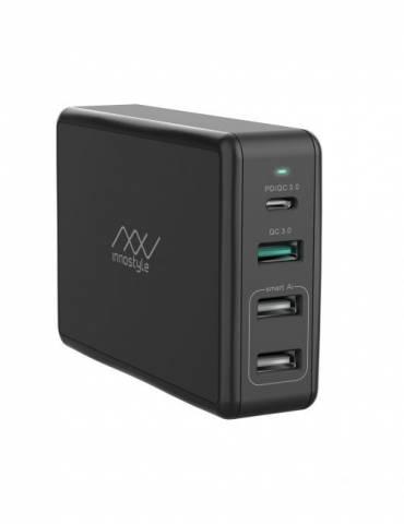 Sạc Đa Cổng Macbook Innostyle Gomax Pro 80W (USB-C PD 65W + 1USB A QC3.0 18W + 2USB A Smart AI)