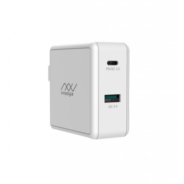 Adapter Innostyle Gomax PD 49.5W ( USB-C PD & USB QC3.0 18W) (IC49PD)