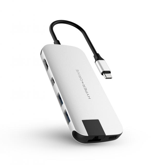 Cổng Chuyển Hyperdrive SLIM USB-C Multi Port Hub for MacBook, PC & Devices (HD247B)