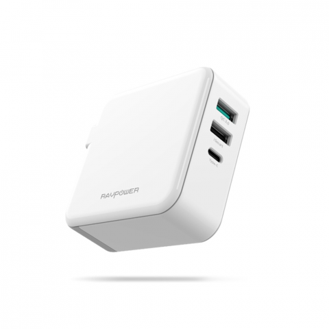 RAVPower RP-PC082, PD65W, USB-C, QC3.0, EU Plug