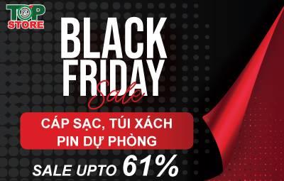 [Black Friday Sale] Topstore sale dòng sản phẩm cáp sạc, túi xách và pin dự phòng giảm đến 61%