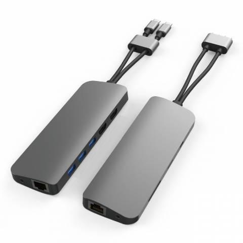 Cổng Chuyển HYPERDRIVE VIBER 10-IN-2 4K60HZ USB-C HUB FOR MACBOOK, IPADPRO, LAPTOP, SMARTPHONE (HD392)