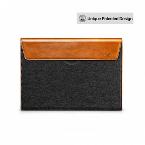 Túi Xách Chống Sốc Tomtoc (USA) Premium Leather For Macbook Pro 15″ New Gray (H15-E02Y)