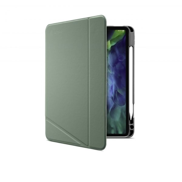 Bao Da TomToc (USA) Từ Tính Đa Góc Smart-Tri Hỗ Trợ Sạc Không Dây Apple Pencial For Ipad Pro 12.9-inch Cactus (B02-004T02)