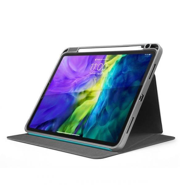 Bao Da TomToc (USA) Từ Tính Đa Góc Smart-Tri Hỗ Trợ Sạc Không Dây Apple Pencial For Ipad Pro 11-inch Cactus (B02-003T02)