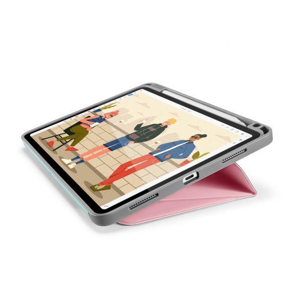 Bao Da TomToc (USA) Từ Tính Đa Góc Smart-Tri Hỗ Trợ Sạc Không Dây Apple Pencial For Ipad Pro 12.9-inch Sakura (B02-004T01)