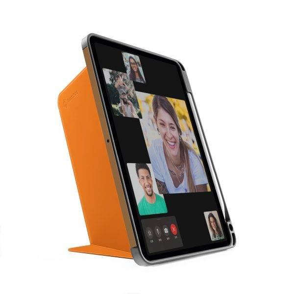 Bao Da TomToc (USA) Từ Tính Đa Góc Smart-Tri Hỗ Trợ Sạc Không Dây Apple Pencial For Ipad Pro 11-inch Tangelo (B02-003Y01)
