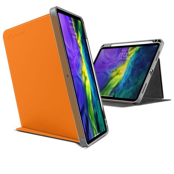 Bao Da TomToc (USA) Từ Tính Đa Góc Smart-Tri Hỗ Trợ Sạc Không Dây Apple Pencial For Ipad Pro 12.9-inch Tangelo (B02- 004Y01)